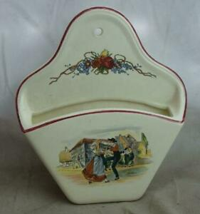 Keramik Sarreguemines Obernai Wandbehälter