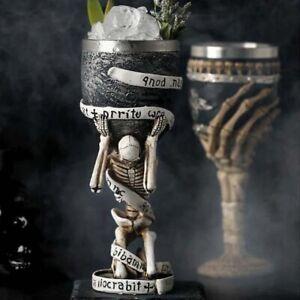 Handmade Gothic Skeleton Stainless Steel Cup Skull Mug Bar Halloween Goblet Part