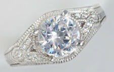 2 ct Artisan Carved Ring Top Russian Quality CZ Imitation Moissanite Simulant 5
