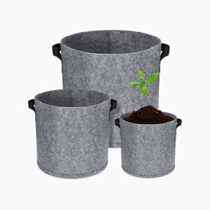 1-30 Gallon Fabric Grow Pot Bags Garden Plant Flower Vegetable Planter Container