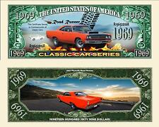 1969 RoadRunner Collectible Dollar Bill Fake Play Funny Money Novelty Note