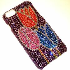 3 TULIPS Rhinestone Bling Back Case for iPhone 6 Plus w/ Crystals from Swarovski