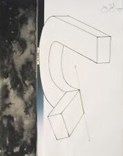 """JASPER JOHNS Signed 1971 Original Color Lithograph - """"Bent U"""""""