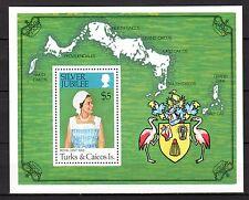 Turks & Caicos- 1977 Silver Jubilee - Mi. Bl. 7 MNH