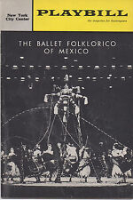 1963 Playbill The Ballet Folklorico of Mexico at New York City Center