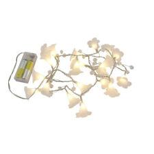 LED Lichterkette mit 20 Blumen warmweiss Batteriebetrieb Beleuchtung Lichtkette