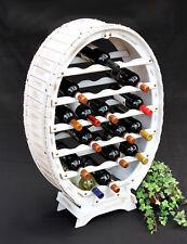 PORTABOTTIGLIE VINO LEGNO Bianco Botte Di Scaffale porta bottiglie 24 VINTAGE