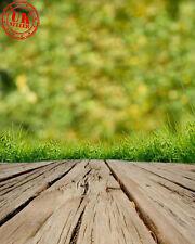 GREEN GRASS WOOD FLOOR BABY BACKDROP BACKGROUND VINYL PHOTO PROP 5X7FT 150x220CM