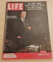 Life Magazine January 21 1957 - Britain's New Prime Minister, Draught, more