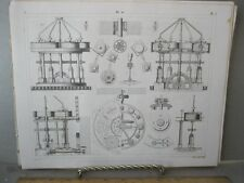 Vintage Print,EARLY MACHINERY,Taffle 16,Iconographic,1851