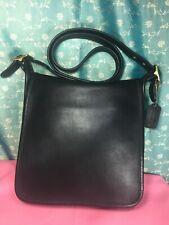Vintage Coach 9144 Crossbody Carry bag Purse Handbag Shoulder bag Black Leather