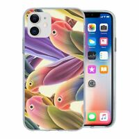 For Apple iPhone 11 Silicone Case Parrots Birds - S1319