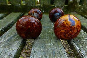 Antique Porcelain Brown Marble Swirl Tiger Eye Bennington Door Knobs Spindle Set