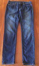 WITCHERY Womens Classic Mid Blue Stretch Denim Skinny Leg Mid Rise Jeans 14