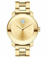 Movado Bold Women's Swiss Gold Ion-Plated Stainless Steel Bracelet Watch 3600104