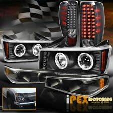 04-12 Chevy Colorado Halo Projector Black Headlights + Signals + LED Tail Light