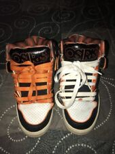 Osiris NYC 83 Ultra Mens Leather Skateboarding Shoes Size 7.5 White Orange Black