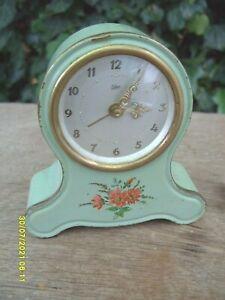 alarm  clock vintage EMES MUSICAL WIND UP  CLOCK