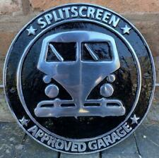 VW Splitscreen Camper Van Approved Garage Advertising Wall Sign - Aluminimum