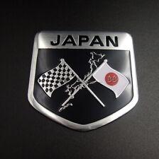 50mm Japan Japanese Flag Shield Emblem Aluminum Badge Car Sticker Accessories