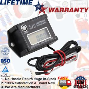 Waterproof Type Tiny Tach Digital Hour Meter Tachometer Resettable Job Timer US