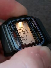Vintage Casio Watch F-91W BULB light New battery fitted