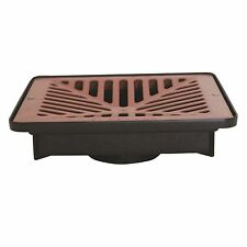 Everhard Industries EasyDRAIN SHALLOW FLO-WAY PIT+ TERRACOTTA POLYMER GRATE