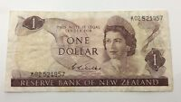 Reserve Bank Of New Zealand One 1 Dollar Bill KO Prefix Circulated Banknote F826