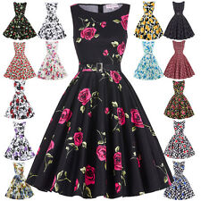 Women Swing 50s Retro Housewife Pinup Vintage COCKTAIL Tea Party Evening Dress