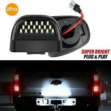 2 Led License Plate Light Assembly For Chevy Silverado Gmc Sierra 1500 2500 3500