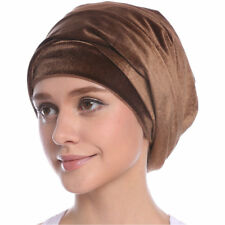 Women Velvet Turban Extra Wrap Head Tube Scarf Arab Hijab Long Tail Cap Hat Tie