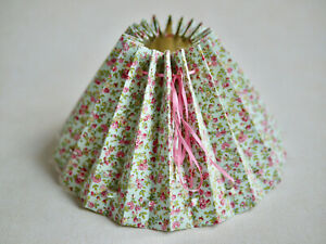 Handmade Fabric Covered, Romantic Lampshade, Table, Light