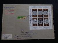 Einschreiben DDR Kleinbogen Mi.-Nr. 3215-3220 als EF Gransee-Neuötting - b3785