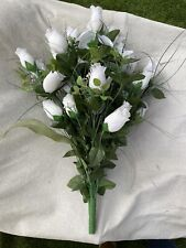 Artificial White Rose Bouquet Fake Flower Wedding Party Home Decor