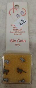 DYNA Models HO Locomotive Figures #1506 Six Cats. NIB (15M)