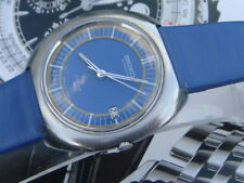 Seiko RARO 7005 8150 Quadrante Blu Acciaio Inox Orologio Da Uomo Automatico Japan c1970-1