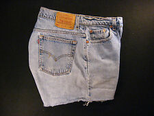 Vintage LEVIS Zipper 550 CUTOFF JEANS SHORTS Cut Off 33 Red Tab HIGH WAISTED