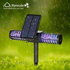 Homecube Outdoor Solar LED Mosquito Killer UV Lamp Garden Insect Zapper Sensor