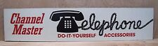 Vtg Channel Master Telephone Accessories Advertising Sign large store display