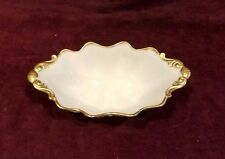 Lenox 24k Gold Trim hand decorated Scalloped Edge Oval Bowl