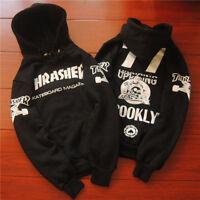 Men's Hoodie sweater Hip-hop skateboard Thrasher Black Fleece Sweatshirts RQ