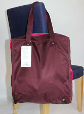 Lululemon Bring It Om Tote Bordeaux Drama Berry Rumble NWT Purple Expandable Bag