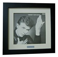 DAVID BOWIE+HEROES+Album+LP+Art+GALLERY QUALITY FRAMED+EXPRESS GLOBAL SHIPPING