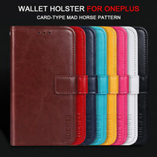 For OnePlus 6T 6 5T 3T 2 Magnetic Wallet Card Slots Flip PU Leather Case Covers