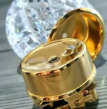 More details for 24k gold plated crystal table lighter vintage gas rare cigar made england 1960s