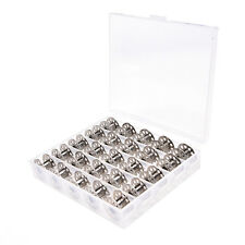 25Pcs Clear Empty Sewing Machine Bobbins Spool Metal Case With Storage Box、Nice