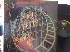 KING KOBRA THRILL OF A LIFETIME LP ON CAPITOL RECORDS