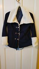 Ladies Coat Jacket White Navy Size 10 Small 12 new without tags