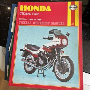 HONDA CBX550  manual haynes 1982-1986 572.5cc owner workshop manual