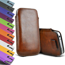 For iPhone 11 Pro Max Pull Tab Flip PU Leather Case Cover Pouch Sleeve Holster